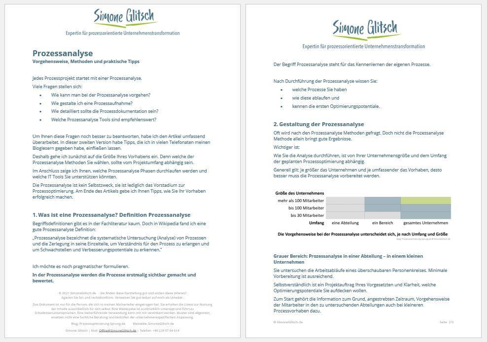 Prozessanalyse PDF